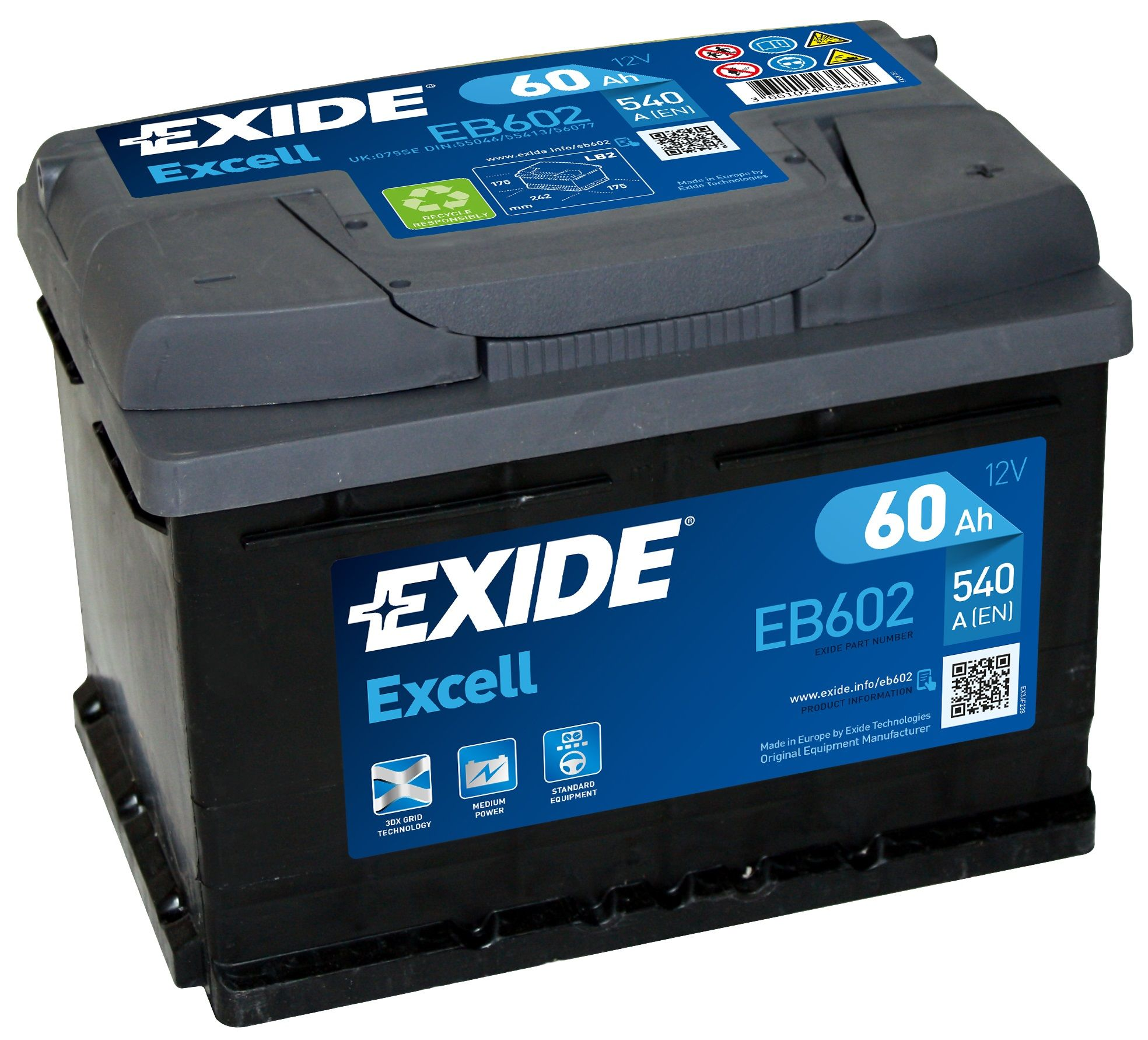 Exide  Volt Car Battery Uk