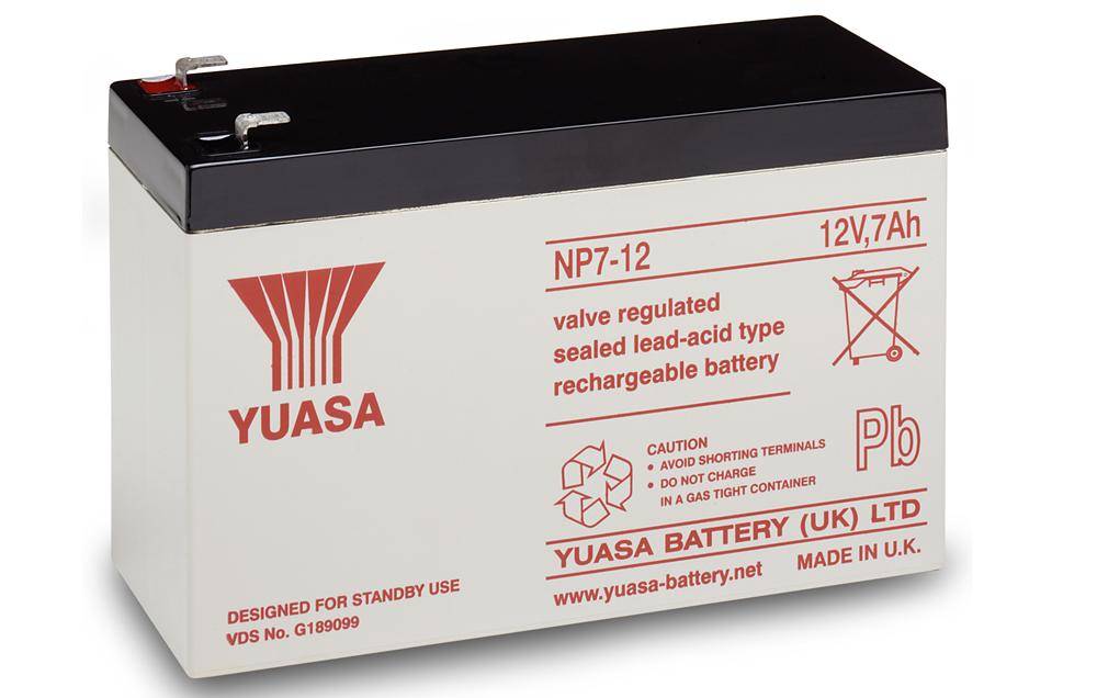 NP7-12 Yuasa 12v 7Ah Lead Acid Battery Battery  £11.23 Ex VAT Buy online from The Battery Shop